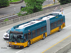 (2011) King County Metro New Flyer DE60LFR #6884 (Erubisu 27) Tags: seattle usa bus us washington teal auburn transit wa renton 952 kingcountymetro newflyer nfi de60lfr