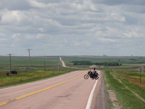 Long bent road