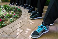 Rocking Air Jordans (www.alexsommersphotography.com) Tags: blue wedding summer arizona eos groom is shoes az 7d gilbert usm dslr groomsmen weddingday efs f28 laces 1755 jordans caon airjordans villasiena wwwalexsommersphotographycom