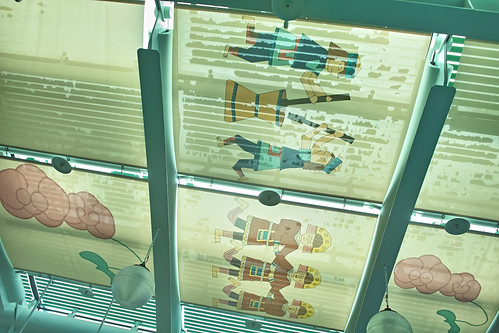 台東機場屋頂上的彩繪