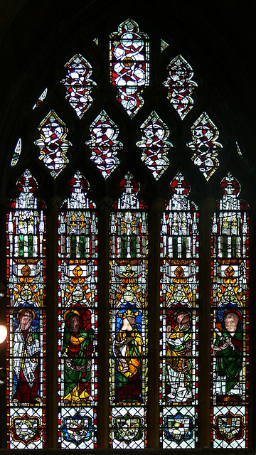 King David and four Prophets Medieval stained glass tewkesbury abbey