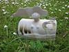 IMG_0442 (francesca rose ceramics) Tags: sculpture ceramics glaze figures earthenware stoneware dolomite tenmoku