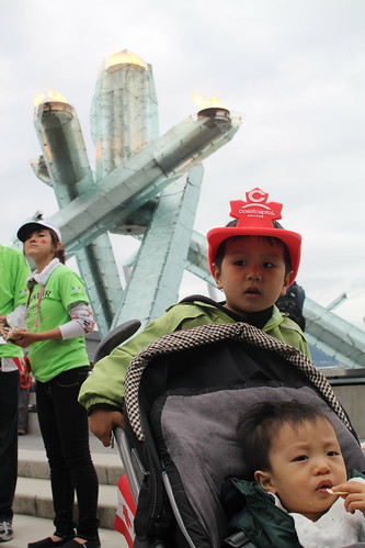 Kids with Olympic Cauldron