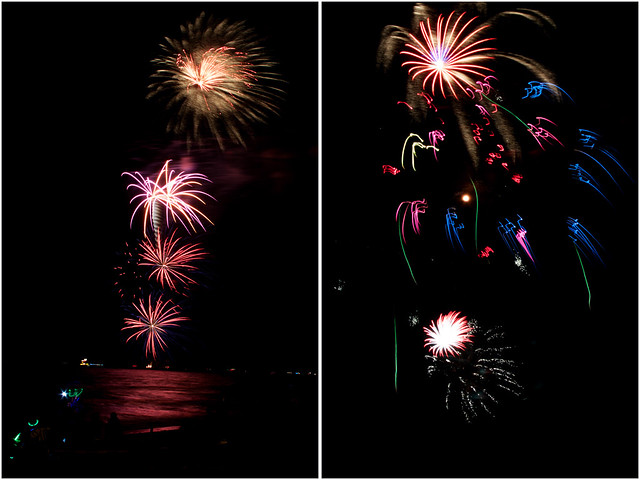 July 4th fireworks diptych 11