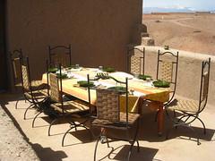 our lunch table, Skoura (Kristel Van Loock) Tags: table lunch chairs morocco maroc marocco marokko tavola tafel stoelen skoura lemaroc southernmorocco zuidmarokko maroccodelsud