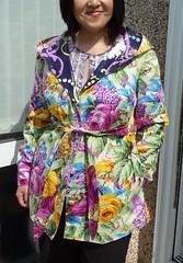 Cotton Side (SausageCat) Tags: sewing coat raincoat amybutler oilcloth reversible dressmaking