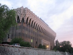 Nurbank building in the sunset (SteppeTales) Tags: sunset centralasia kazakhstan almaty khabar     nurbank