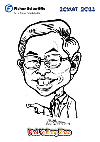 Caricature for Fisher Scientific - Prof. Yuliang Zhao