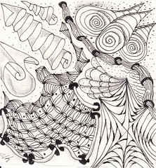 06-05-2011 (Blind Squirrel Photo Safari) Tags: art tile drawing hobby doodle tangle zentangle