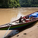 longboat on the Kayan river