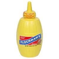Plastic mustard squeeze bottle