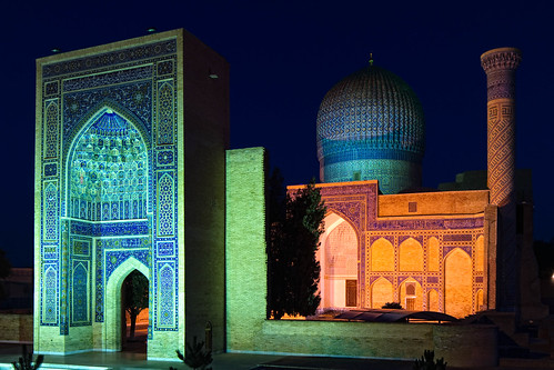 Samarkand at night