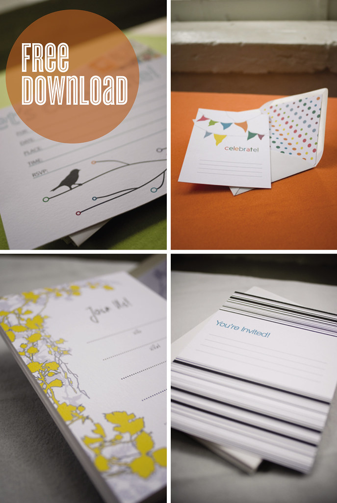 Free Downloadable Invitations