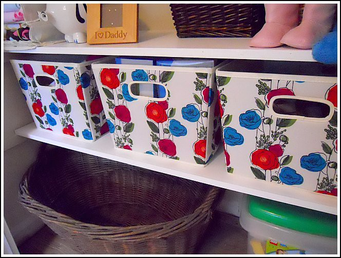 both of these storage ideas were extremely inexpensive and added tons of decorative storage - Decorative Storage Bins