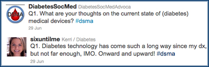 An example of the #dsma Twitter discussion questions