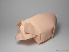 PIG (1997) (Zsebe Origami) Tags: pig origami origamipig zsebeorigami