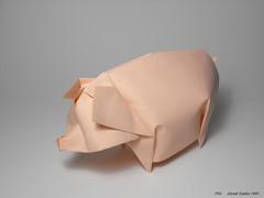 PIG (1997) (Zsebe Origami) Tags: pig origami origamipig zsebeorigami