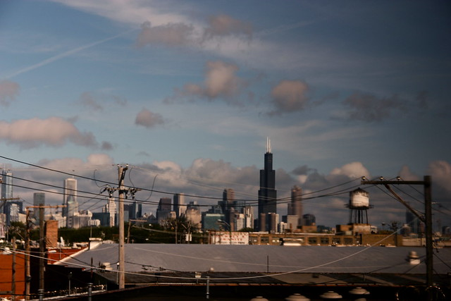 Chicago from the train