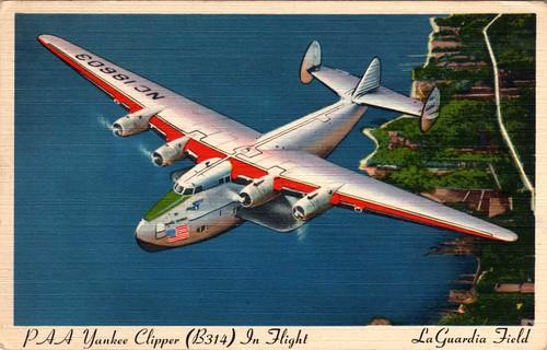 Boeing 314 Yankee Clipper postcard