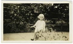 Snapshot: July, 1932  Beverly (mrwaterslide) Tags: tricycle trike stonewheel trikeboy