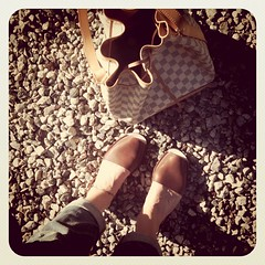 My sandals from Spain are quickly becoming a Summer favorite ... #shoes #bag #LouisVuitton