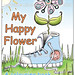 My Happy Flower Colouring Book Front Cover