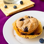 Whole Lemon-Blueberry Muffins