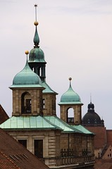 Copper-roof family (:Linda:) Tags: germany bavaria town nuremberg franconia spire nrnberg finial metalroof copperroof metalldach