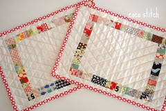 patchwork place mat (coco stitch) Tags: red children rainbow quilt placemat etsy patchwork