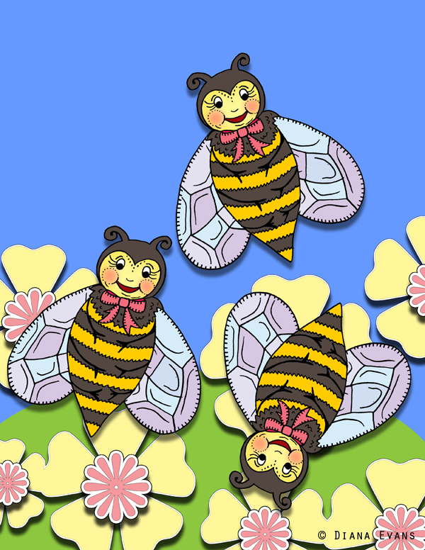 busy bee bookmarks - blog 2