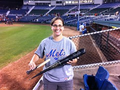 Allan Dykstra's broken bat that I got after the game. (Julie Rubes) Tags: binghamtonmets allandykstra gdzlla