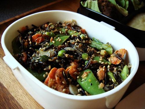 Hers: Smoked Salmon Wild Rice Bento