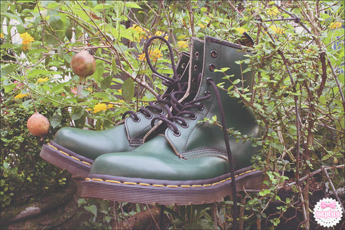 Green Doc Martens