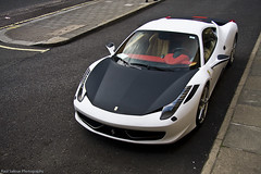 458 ITALIA (Raul Salinas) Tags: red white black color london cars car canon photography eos amazing italia uae ferrari salinas arab raul 17 kuwait expensive limited edition 85 rare exclusive supercar qatar combo 458 2011 eor 40d autogespot
