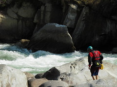 Scouting on the Kameng river Adventure rafting and kayaking trip