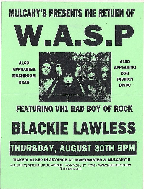 08-30-02 W.A.S.P./Mushroomhead/Dog Fashion Disco @ Mulcahey's, Wantagh, NY