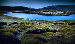 West Shining (inhiu) Tags: light mountain west nature grass river landscape iceland nikon d7000 inhiu