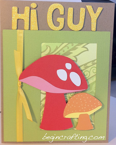 Handmade Mushroom Card