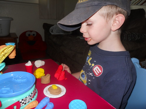 Guy and his play-doh