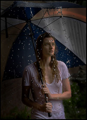 Jade in the rain dark and moody. (tulsaphotos@yahoo.com) Tags: oklahoma rain photoshop fun model moody different style drought impact interisting ringexcellence