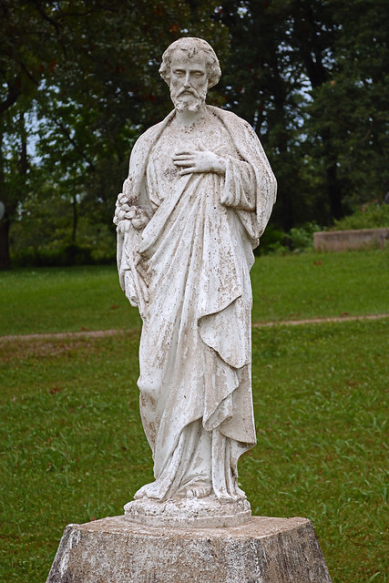 Saint Joseph Roman Catholic Church, in Tiff, Missouri, USA - statue of Saint Joseph