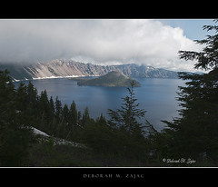 Crater Lake (CircadianReflections Photography) Tags: blue weather oregon forest volcano nikon national craterlake pinetrees lowclouds wizardisland umpquanationalforest cs5 nikkor1735 roguerivernationalforest d300s singhraylbcolorcombo winemanationalforest sandiskultraiidigitalfilm