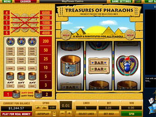 Treasures of Pharaohs 5 Lines slot game online review