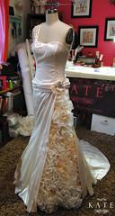Wedding dress! (stuffbykate) Tags: wedding dress ivory stretch fabric gown bridal custom satin couture stuffbykate kateseavey