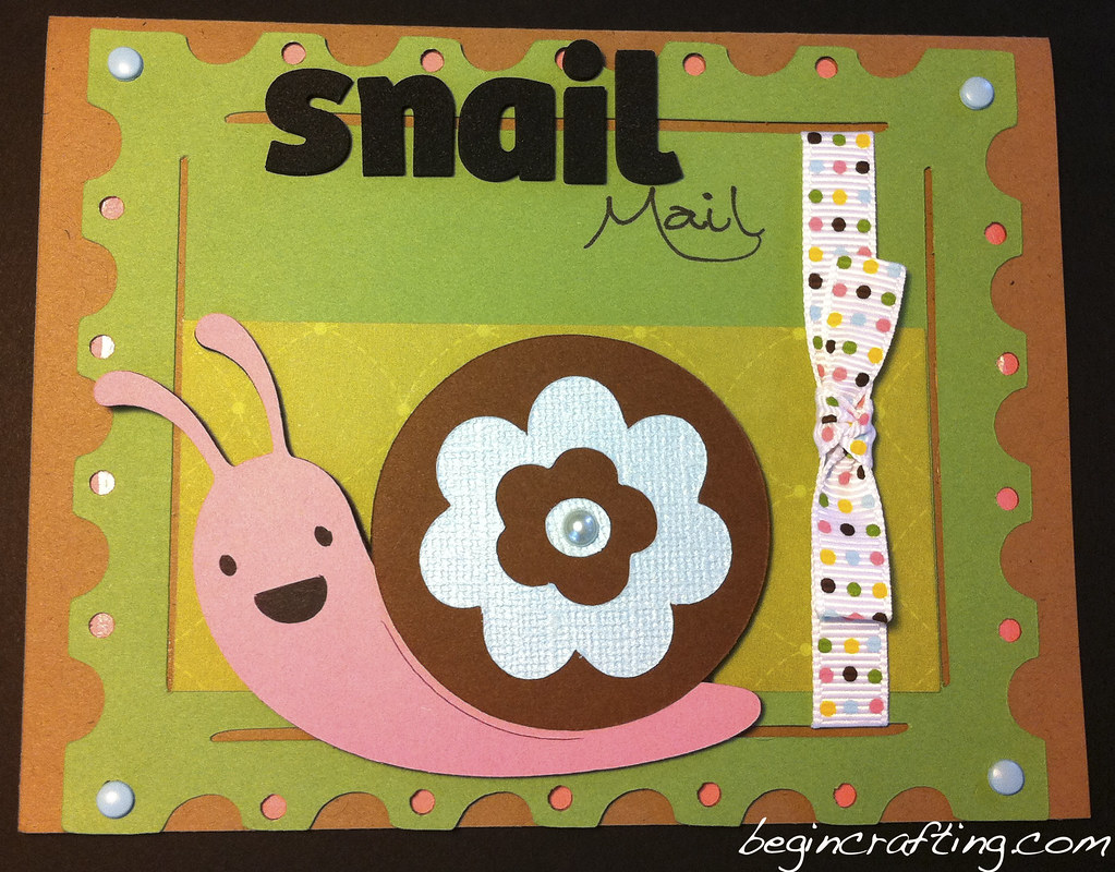Handmade Snail Mail Card