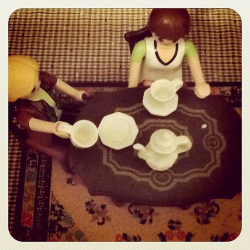 Coffee w/friends playmobil