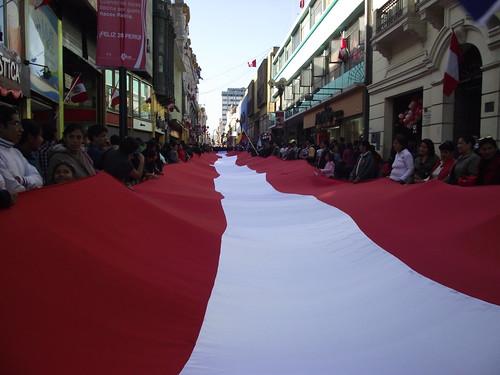 Pasacalle Independencia del Perú