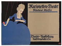 MARIONETTEN-THEATER (1910) (Susanlenox) Tags: berlin art germany advertising poster publicidad kunst style artnouveau plakat reklame akademiederknste cartel academyofthearts lucianbernhard cartelismo plakatstil posterstyle 18831972 emilkahn theakademiederknste