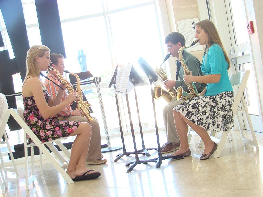 Sax Quartet at Medium Tilt