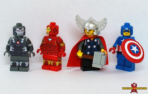 Custom minifig Marvel Avengers Minifigs